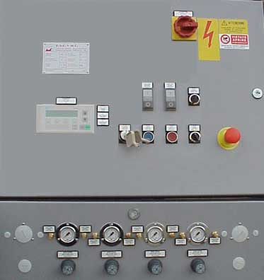 ELECTRIC AND PNEMATICAL CONTROL PANEL